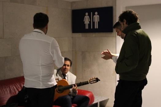 Con el grupo flamenco