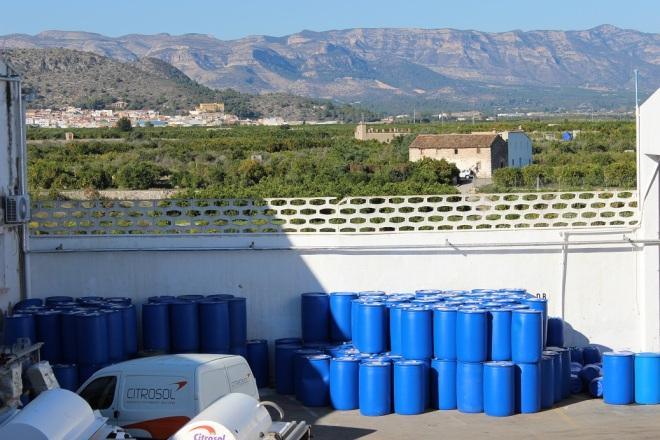 valle desde las instalaciones de Citrosol