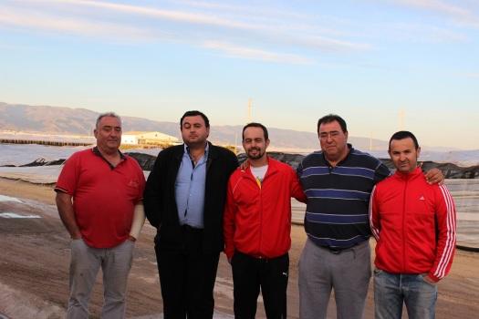 Juan Vidal, Fran Pérez, Juanjo García, Juan Manuel Montalbán y Rafael Martos
