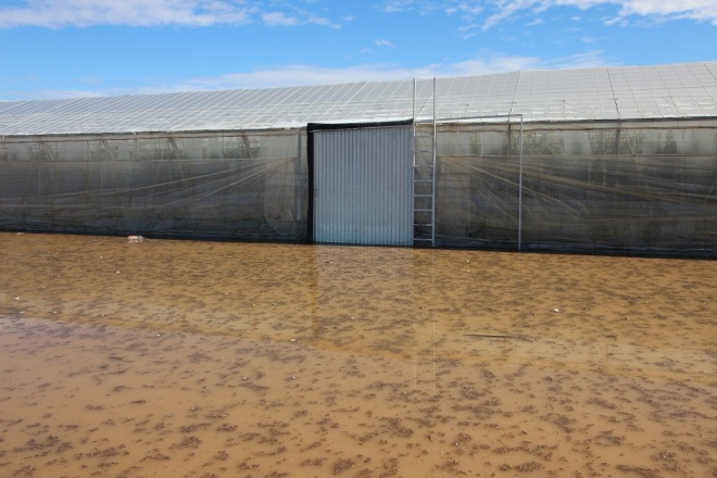 puerta inundada