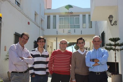 Alberto, Mariano, Perfecto, Juanmi y Luis