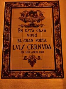 placa casa Luis Cernuda