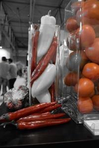 Rojo en pimiento y tomate