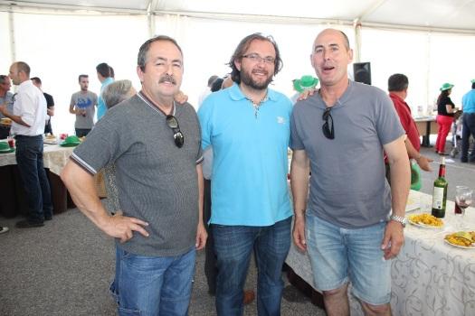 Con José y Antonio Valverde