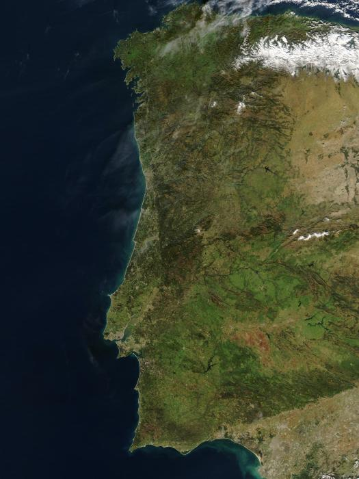 Portugal visibleearth.nasa.gov