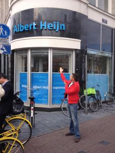 A las puertas de Albert Heijn