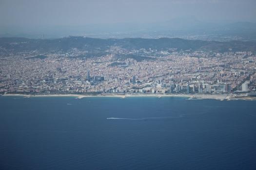 Barcelona desde el avión