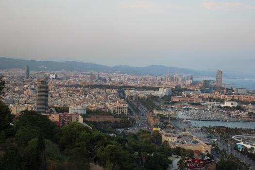 Barcelona desde el mirador del Alcalde