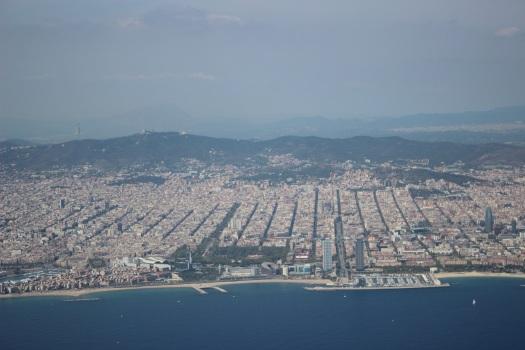 La ciudad olímpica desde el avión
